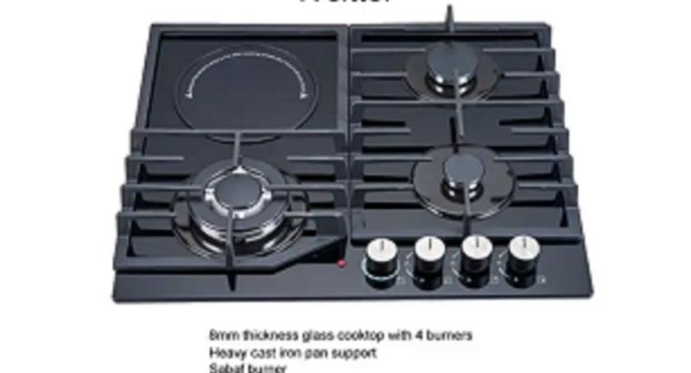 Polystar 4 Burner (3 Gas 1 Electric) Gas Hob+Ignit