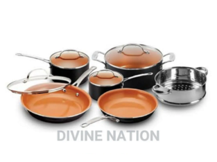 Gotham Steel Pots and Pans 10 Piece Cookware Set