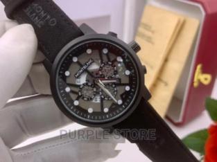 Mont Blanc Leather Wristwatch