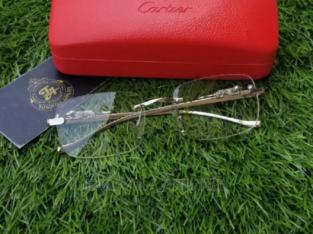 Cartier Rimless Silver Frame Glasses